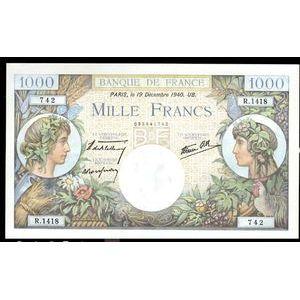 1000 Francs Commerce et Industrie 19.12.1940, SPL