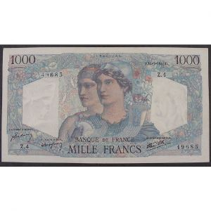 1000 Francs Minerve et Hercule 12.4.1945 , Z.4, TTB