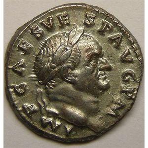 Photo numismatique Monnaies Empire Romain VESPASIEN (69-79) Denier