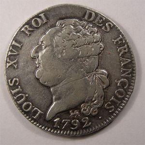 Photo numismatique Monnaies La Révolution 1/2 Ecu de 3 Livres Constitution (François)