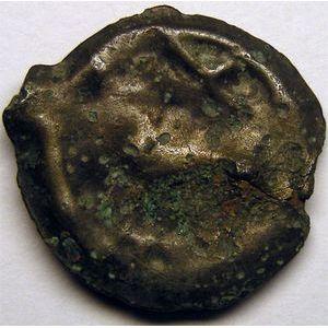 Photo numismatique Monnaies Gauloises Senons Potin à la tête casquée et à la rosace