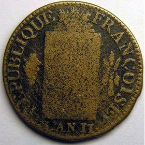 Photo numismatique Monnaies La Révolution Sol aux balances non daté (convention)