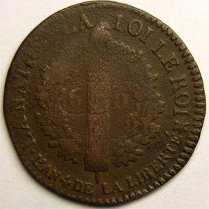 Photo numismatique Monnaies La Révolution 6 Deniers type Français (constitution)