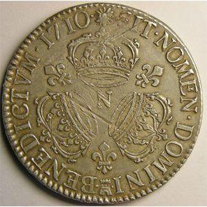 Photo numismatique Monnaies Royales Françaises LOUIS XIV (1643-1715) Ecu aux 3 couronnes