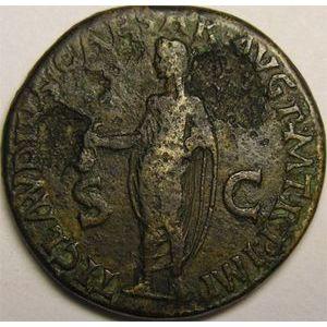 Photo numismatique Monnaies Empire Romain ANTONIA (Femme de Drusus) Dupondius