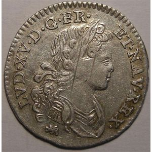 Photo numismatique Monnaies Royales Fran�aises LOUIS XV (1715-1774) 1/10�me d'�cu de France-Navarre