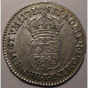 Photo numismatique Monnaies Royales Françaises LOUIS XV (1715-1774) 1/10ème d'écu de France-Navarre