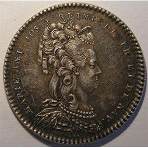 Photo numismatique Monnaies Jetons et médailles Jeton de Marie Antoinette