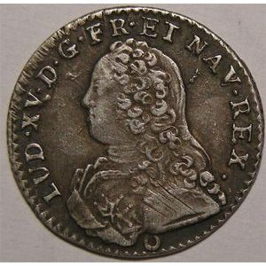 Photo numismatique Monnaies Royales Fran�aises LOUIS XV (1715-1774) 1/10 �me d'�cu aux branches d'olivier