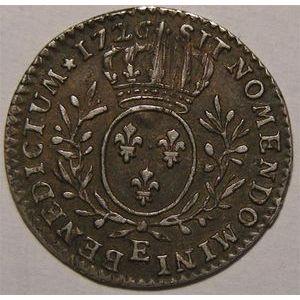 Photo numismatique Monnaies Royales Françaises LOUIS XV (1715-1774) 1/10 ème d'écu aux branches d'olivier