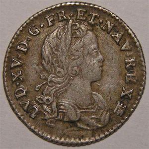 Photo numismatique Monnaies Royales Françaises LOUIS XV (1715-1774) 1/12 d'écu de France-Navarre