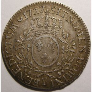 Photo numismatique Monnaies Royales Fran�aises LOUIS XV (1715-1774) Ecu aux branches d'olivier