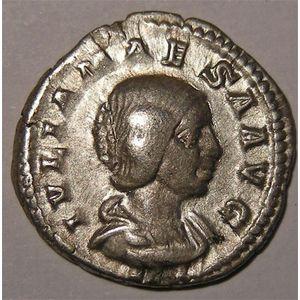 Photo numismatique Monnaies Empire Romain JULIE MAESA ( Gd mère d'Elagabale) Denier