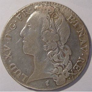 Photo numismatique Monnaies Royales Fran�aises LOUIS XV (1715-1774) 1/2 �cu au bandeau