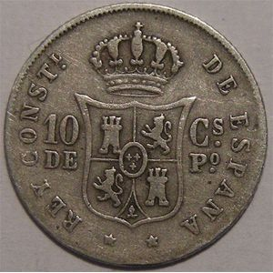 Photo numismatique Monnaies Etrang�res Philippines 10 Centimos