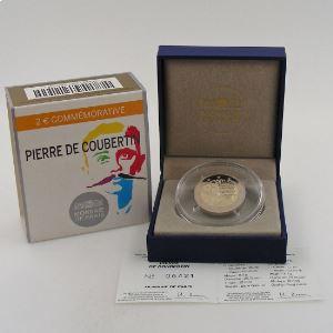 2 Euro 2013 BE , Pierre de Coubertin