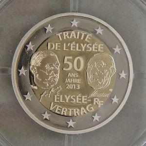 2 Euro 2013 BE , Traité de l'Elysée