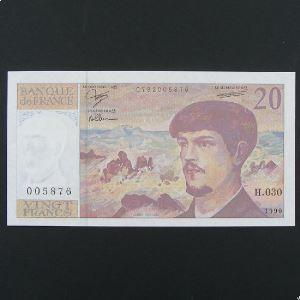 20 Francs Debussy 1990, SPL