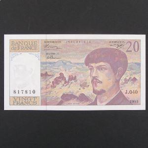 20 Francs Debussy 1993, Pr.Neuf