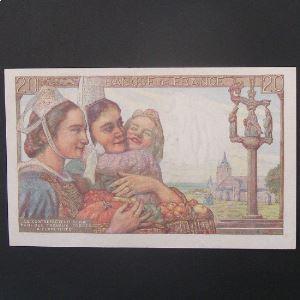 20 Francs Pêcheur 9.1.1947 , TTB/TTB+