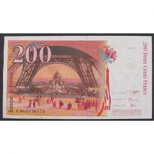 200 Francs Eiffel 1997, C066136173, Neuf papier jauni