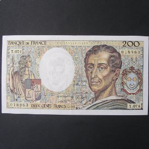 200 Francs Montesquieu 1989,TTB