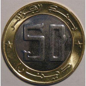 Photo numismatique Monnaies Etrangères Algérie 50 Dinars