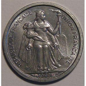 Photo numismatique Monnaies Etrang�res Oc�anie Fran�aise 50 Centimes