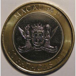 Photo numismatique Monnaies Etrang�res Macao 10 Patacas