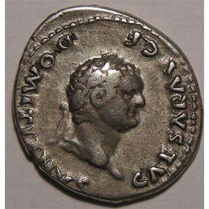 Photo numismatique Monnaies Empire Romain DOMITIEN (69-79) César sous Vespasien Denier