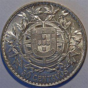 Photo numismatique Monnaies Etrang�res Portugal 50 Centavos