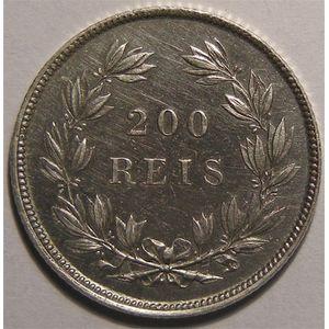 Photo numismatique Monnaies Etrang�res Portugal 200 Reis