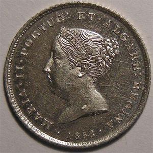 Photo numismatique Monnaies Etrangères Portugal 100 Reis