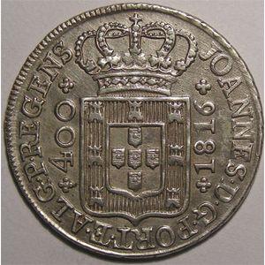 Photo numismatique Monnaies Etrangères Portugal 400 Reis