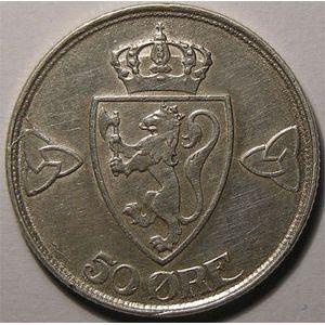 Photo numismatique Monnaies Etrang�res Norv�ge 50 �re