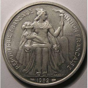 Photo numismatique Monnaies Etrang�res Oc�anie Fran�aise 5 Francs