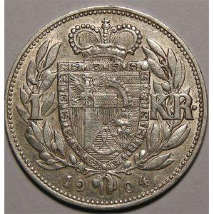 Photo numismatique Monnaies Etrangères Liechtenstein 1 Krone
