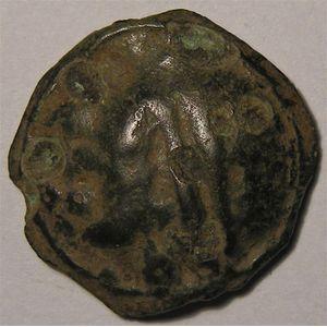 Photo numismatique Monnaies Gauloises Séquanes Potin à la grosse tête