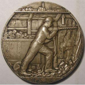 Photo numismatique Monnaies Jetons et médailles Médailles des Mines Mines de Sarre et de Moselle