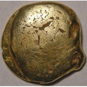 Photo numismatique Monnaies Gauloises Ambiens Statère d'or uniface