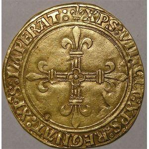 Photo numismatique Monnaies Royales Françaises CHARLES VIII (1483-1498) Ecu d'or au soleil