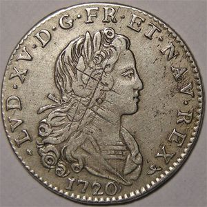 Photo numismatique Monnaies Royales Fran�aises LOUIS XV (1715-1774) Petit Louis d'argent