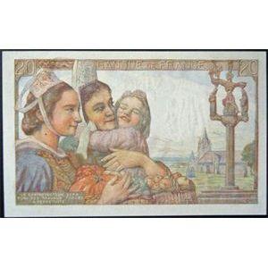 Photo numismatique Billets Billets France 20 Francs Pêcheur