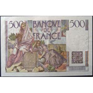 Photo numismatique Billets Billets France 500 Francs Chateaubriand