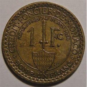 Photo numismatique Monnaies Etrang�res Monaco Louis II (1922-1949)
