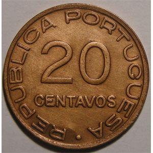 Photo numismatique Monnaies Etrang�res Mozambique 20 Centavos
