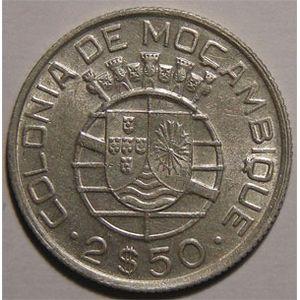 Photo numismatique Monnaies Etrang�res Mozambique 2.5 Escudos