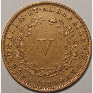 Photo numismatique Monnaies Etrangères Portugal 5 Reis