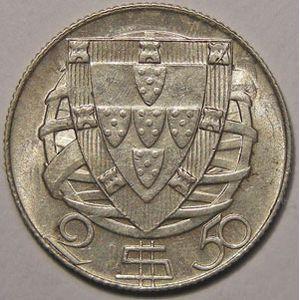Photo numismatique Monnaies Etrang�res Portugal 2.5 Escudos