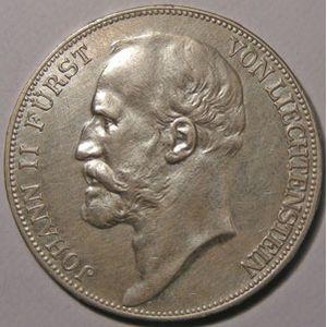 Photo numismatique Monnaies Etrangères Liechtenstein 5 Franken